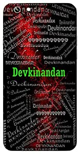 Devkinandan (Son Of Devki - (Lord Krishna)) Name & Sign Printed All over customize & Personalized!! Protective back cover for your Smart Phone : Apple iPhone 7