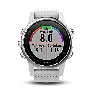 Garmin Fenix 5S Multisport GPS Watch with Outdoor Navigation and Wrist-Based Heart Rate – White with Carrara White Band