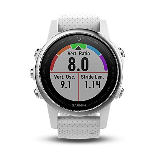 Garmin Fenix 5S Multisport GPS Watch with Outdoor Navigation and Wrist-Based Heart Rate, White with Carrara White Band