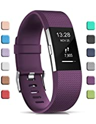 Gogoings para Correa Fitbit Charge 2 Pulsera Ajustable Correa de Reemplazo Deportivo Compatible con Fitbit Charge2