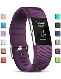 2577e4cefd3e Gogoings para Correa Fitbit Charge 2 Pulsera Ajustable Correa de Reemplazo  Deportivo Compatible con Fitbit Charge2