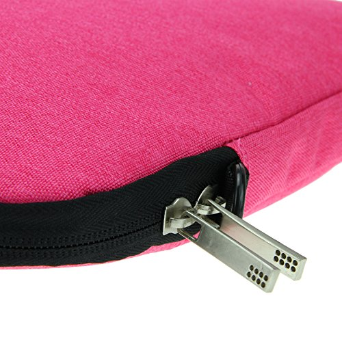 Greenery Unisex Nylon Laptoptasche Notebooktasche Laptop Hülle Case Schultertasche Umhängetasche Aktentasche Messenger Bag für Damen Herren für Lenovo MacBook DELL Notebook bis 38cm 15 Zoll (Grau) Pink