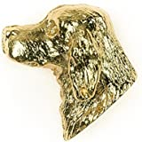 IRISH SETTER Made in U.K Artistic Style Dog Clutch Lapel Pin Collection 22ct Gold Plated by DOG ARTS JP