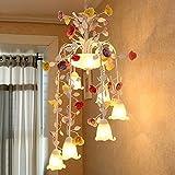 ALUK-Nice chandelier Lange Kronleuchter Treppenhaus Halle Duplex Befestigungen Hirtenstil Eisen Lampe Villa / E27 * 9
