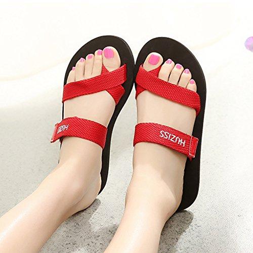 PENGFEI sandali delle donne Summer Beach pantofole flip-flops Gli amanti flip flop Pattino antiscivolo Leisure pattini freddi Confortevole e traspirante ( Colore : A , dimensioni : EU42/UK7.5-8/L:260m B