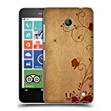 Head Case Designs Swirl Wood Art Protective Snap-on Hard Back Case Cover for Nokia Lumia 630 Dual SIM 630 635