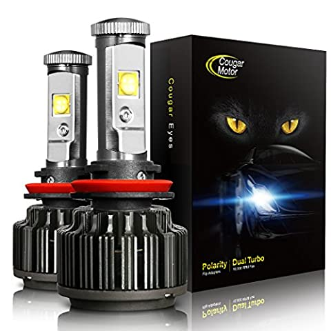 TECHMAX H11 (H8, H9) 60W LED Headlight Bulbs All-in-One Conversion Kit,7200 Lumen (6000K Cool