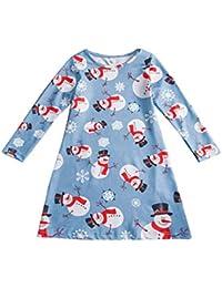 Jitong Linda Vestido de Navidad Niña - Ropa para Mama y Hija - Estampados Vestidos de