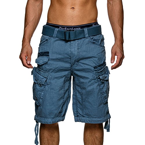 Geographical Norway Herren Cargo Short People Mittelblau