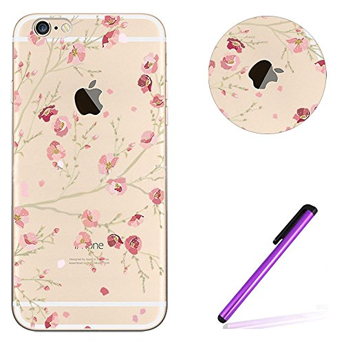 iPhone 6S Plus Bumper Coque,iPhone 6S Plus Fille Coque,iPhone 6S Plus Transparente Coque,Coque Housse Etui pour iPhone 6 Plus / 6S Plus,EMAXELERS iPhone 6S Plus Silicone Case Slim Gel Cover,iPhone 6 P TPU 7