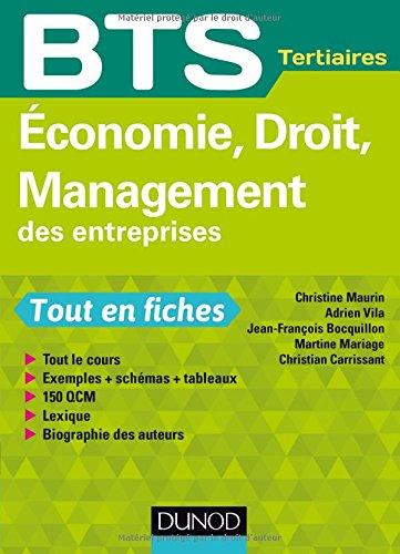 Economie, Droit, Management des entreprises - BTS Tertiaires