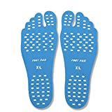 Aquiver Beach Invisible Shoes, Portable Anti-skid Foot Pad Non-slip Heat-Resistant Environmental Adhesive Insole for Kid Men & Women General (Blue, XL)