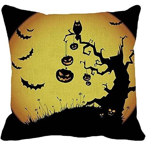 Malloom® Halloween Pumpkin Quadrato Cuscino Federa Federa Decor Chiusura A Cerniera (B)