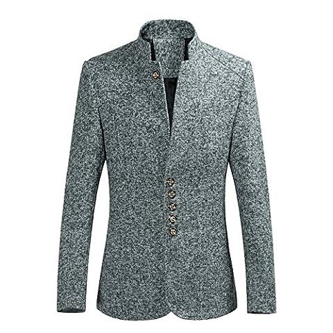 YFFUSHI Blazer Homme Couleur Uni Slim Veste Homme Printemps