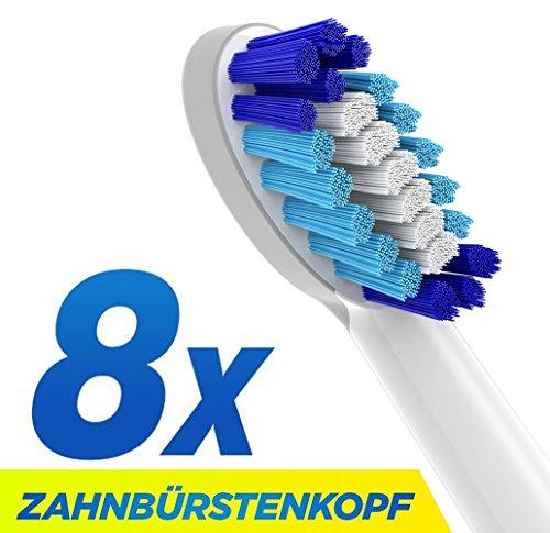 CARETIST Pulsonic Ersatzbürsten kompatibel mit Oral-B Pulsonic elektrischen Zahnbürsten, 8 Stück. Pulsonic Zahnbürstenaufsätze ist voll kompatibel mit Braun Oral-B Pulsonic Slim Elektrische Schallzahnbürste