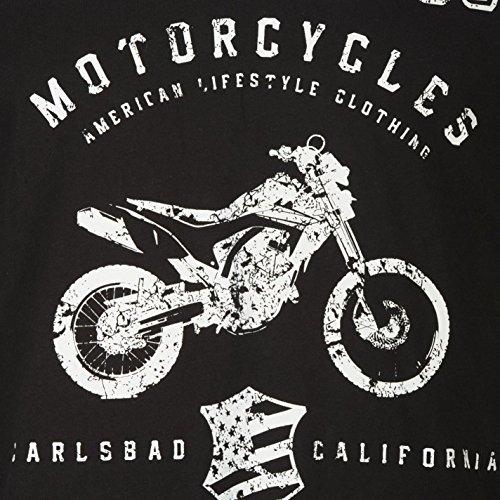 No Fear Herren Moto Grafik T Shirt Kurzarm Rundhals Print Baumwolle Regular Fit Mono Carlsbad