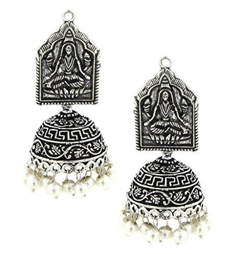 the-jewelbox-godess-lakshmi-colore-ossidato-orecchini-jhumki-in-argento-con-perle-da-donna