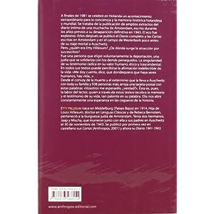 Diario De Etty Hillesum. Una Vida Conmocionada (Memoria Rota. Exilios y Heterodo