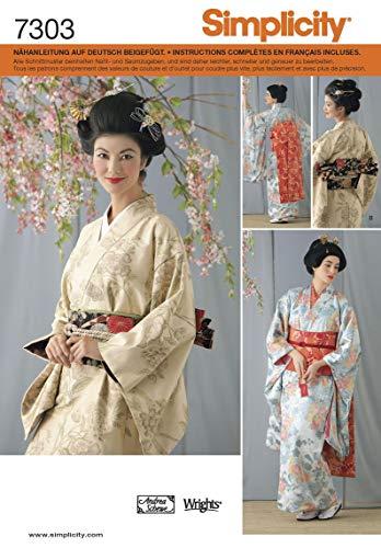 Simplicity Schnittmuster 7303 HH Damen Kostüm Kimono Gr. 32-38