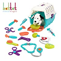 Battat - Dalmatian Vet Kit - Toy Vet Clinic with Cage, Plush, and Vet tools for Kids 2 years + (15 pieces)