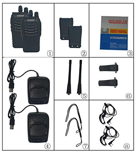Generic 2Pcs/set baofeng BF-888S Walkie Talkie Portable Radio BF888s 5W 16CH UHF 400-470MHz