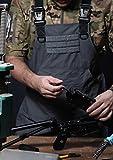 CyberDyer Male femelle tactique Outil de travail Tablier avec poches pour extérieur pique-nique et Quotidiennes de travaux de réparation, gris, Taille unique