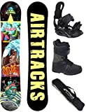 AIRTRACKS SNOWBOARD SET (PAQUETE COMPLETO) TABLA SPACEMAN CARBON WIDE (HOMBRE)+FIJACIONES...