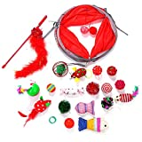 Weihnachten Haustier Katze Spielzeug lustige Katze Stick-Paket 1 Paket (20 Sätze) Lustiges Spielzeug, um Ihre Leidenschaft für Feiern zu Zeigen.