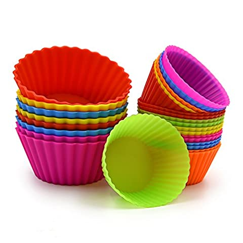 Ankway Silicone Baking Cups - Réutilisable Muffin Pans Cupcakes Liner (26 Pack, Multicolor)