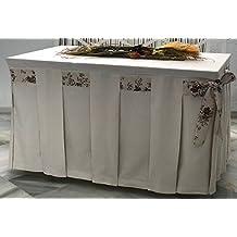 INUSUAL Falda o Ropa de Camilla Decorativa (Marfil, 120X70X72)