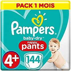 Pampers Baby Dry Pants Taille 4+ (x144 couches) pack 1 mois