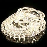 SPEED 30Meter LED Lichterschlauch Lichterkette Schlauch Leiste Set Außen und Innen Warmweiß