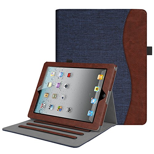 Fintie Hülle für iPad 2 / iPad 3 / iPad 4 - [Eckenschutz] Multi-Winkel Betrachtung Folio Stand Schutzhülle Cover Case mit Dokumentschlitze, Auto Schlaf/Wach Funktion, Denim Indigoblau