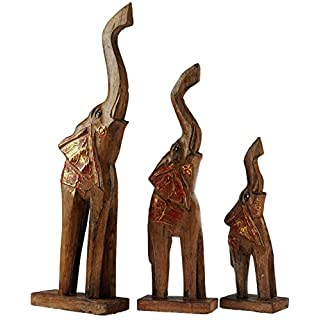 GW Set mit 4Holz-Design der afrikanischen Elefanten-Anhänger