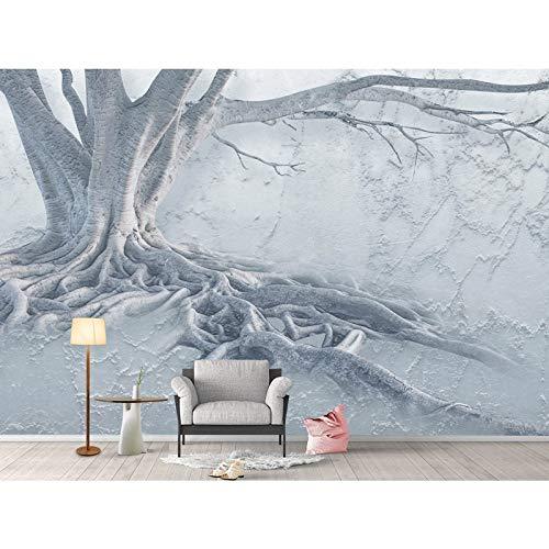 Fototapete 3d effekt Moderne 3D Tapeten Big Tree Root Fototapete Wandbild Wohnzimmer Schlafzimmer Home Hotel Decor Selbstklebende Vinyl/Seide Tapete-350X250CM -