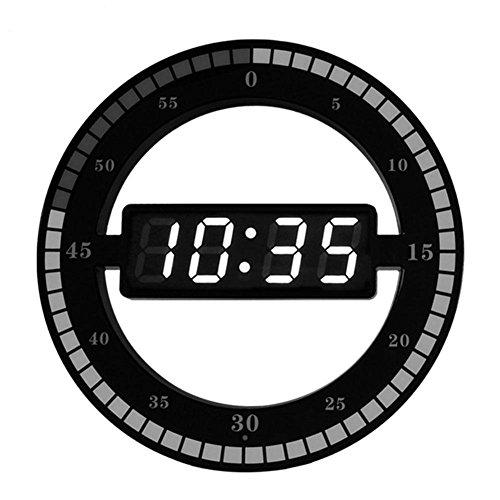LOTOS Horloge de créativité, Affichage à LED, Intelligent Sensitive Réglage Automatique Luminosité Silent