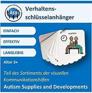 Autism Supplies And Developments-Llavero de plástico con Comportamiento Visual (alemán) (DE_BKR)