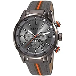 Esprit Alaric Men's Quartz Watch with Grey Dial Chronograph Display and Grey Nylon Strap ES108021001