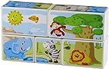 Haba 301202 - Würfelpuzzle Zoo-Tiere