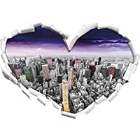 skyline di New York City in tarda serata / a
