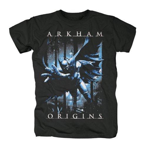 Batman Arkham Origins - Camiseta Batman - Negro - XL