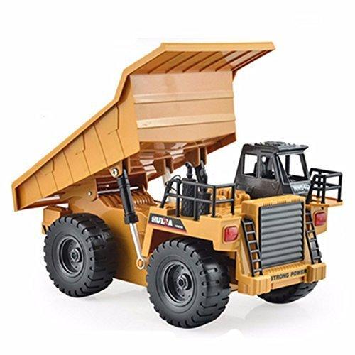 RC LKW kaufen LKW Bild 1: s-idee® S1540 Rc Kipper 6 Kanal Muldenkipper Tieflader Truck 1:18 mit 2,4 GHz kippbare Ladefläche Huina 1540*