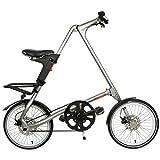Falt Fahrrad Strida EVO 18 Zoll 3S in Farbe Silver brush