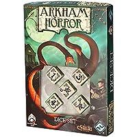 Dés de jeux beige & noir Arkham Horror