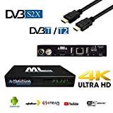 Medialink ML 8400 4K UHD DVB-S2/ T2 Netflix, DAZN Support IPTV Miracast Xtreme Stalker Linux + Android Multimedia Box, WiFi, Negro