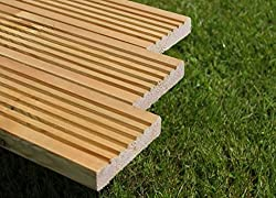 diyclick2buy Timber Deck Boards 120mm x 28mm x 3m lengths Fully Treated Boards In Various Pack Sizes (8)