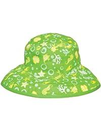 Kidz Banz Chapeau de Soleil Réversible 2-5 ans - Créatures de la Mer Citron
