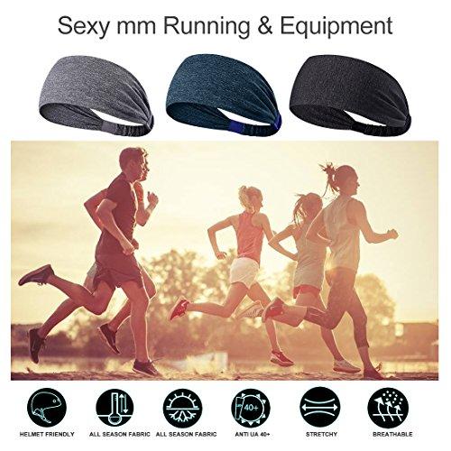 NUREINSS-Yoga-Sport-Athletic-Workout-Headband-For-Running-Sports-Travel-Fitness-Elastic-Wicking-Non-Slip-Lightweight-Multi-Style-Bandana-Headbands-Headscarf-fits-all-Men-Women