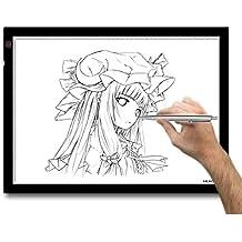 Huion A3 – Tablero de trazado digital para artes gráficas con luz LED de 23.5 pulgadas. Color negro y blanco