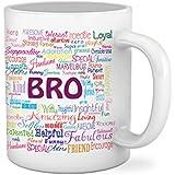 Tied Ribbons Ceramic Bro Printed Coffee Mug, 325 ml, White
